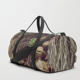 Red rocks in the forest III Duffle Bag