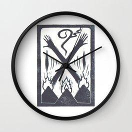 Banishment (White) Wall Clock