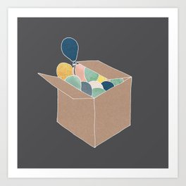 Boxed Balloons Art Print