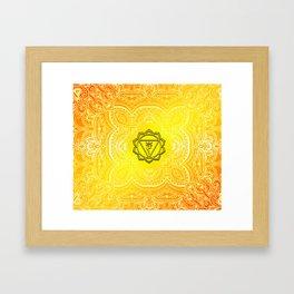 Solar Plexus Chakra Mandala Framed Art Print