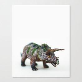 Fine Art Dinosaur Print: Triceratops Canvas Print