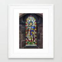 stained glass Framed Art Prints featuring Stained Glass by Ian Mitchell