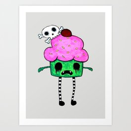 Zombie Cuppy Wants Your Brainz Art Print