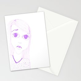 purple sadness1 Stationery Cards