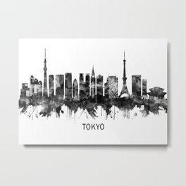 Tokyo Japan Skyline BW Metal Print