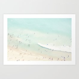 beach summer fun Art Print