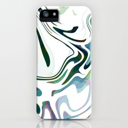 Greed Liquid Marbled Waves Design iPhone Case