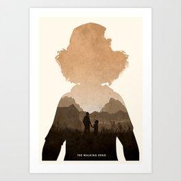 Clementine (TWD) Art Print