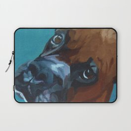 Leo the Boxer Dog Portrait Laptop Sleeve