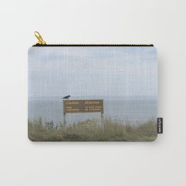 Caution (American black crow on caution sign) Carry-All Pouch