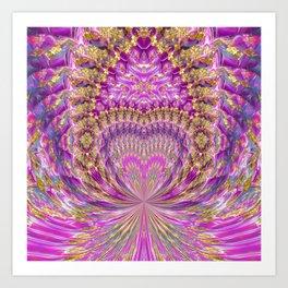 Pink Fountain of Love Art Print