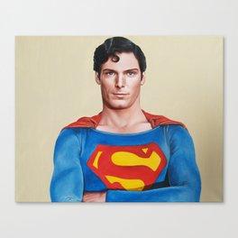 Superman original painting Canvas Print