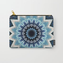 Pointed Blue Mandala Carry-All Pouch