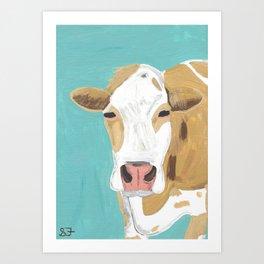 A Cow Named Cross Art Print