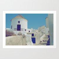 Windmill House III Art Print