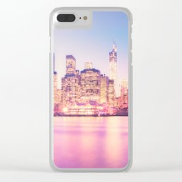 New York City Skyline - Lights Clear iPhone Case