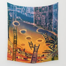Time through Time, from Caves to Skyscraper, from Organic to Geometric Wall Tapestry