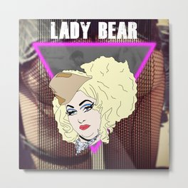 Lady Bear Metal Print