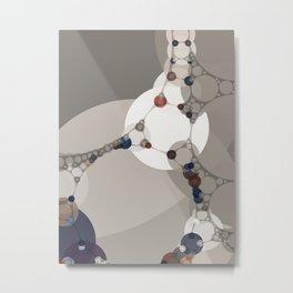 sarah - midtone abstract subdued colour taupe white tan purple Metal Print