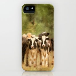 Curious Cows iPhone Case