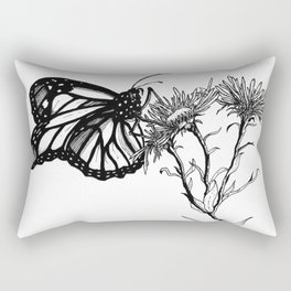 Monarch Butterfly by Sketchy Reputation Rectangular Pillow