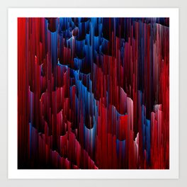 On the Up & Up - Pixel Art Art Print