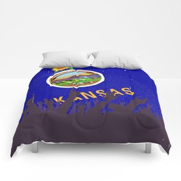 Kansas State Flag with Audience Comforters
