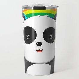 Funny Panda Bear LGBT Community Pride T Shirt Travel Mug