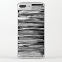 Gray White on Black Abstract Minimalism #1 #minimal #ink #decor #art #society6 Clear iPhone Case