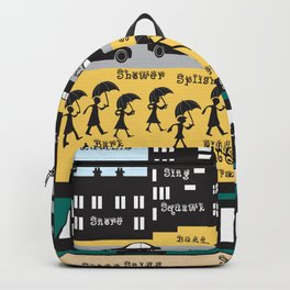 Silhouette city Backpack