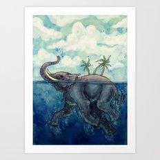 Elephant Island Art Print