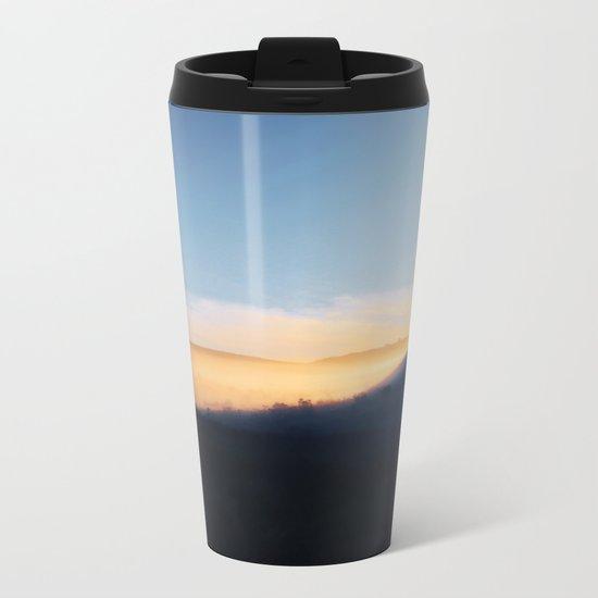 Sunset in the hills Metal Travel Mug