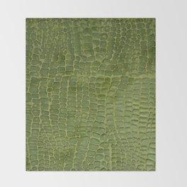 Alligator Skin Throw Blanket