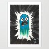 Ghostly Gasp Art Print