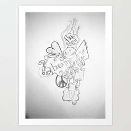 The Simple Elements Art Print
