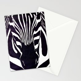 Zebra Painting  Stationery Cards