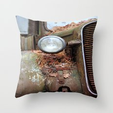 Vintage headlight Throw Pillow