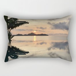 Sunset over Water Rectangular Pillow