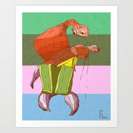 Walking Crab Art Print