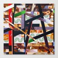 ruben ireland Canvas Prints featuring Ruben (stripes 19) by Wayne Edson Bryan