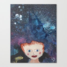 She Imagines No Limits Canvas Print