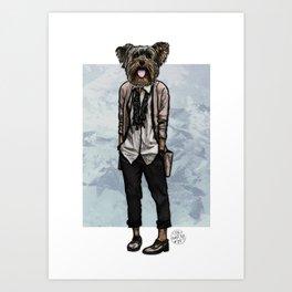 Charlotte Yorkie Art Print
