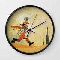 jedi Wall Clocks featuring Jedi soul by Tony Vazquez
