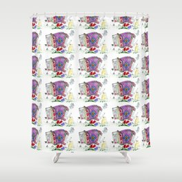Decorative accordion Shower Curtain