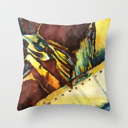 Abstract Watercolorpainting Throw Pillow