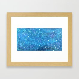 NOCTCAELADOR (love of the night sky) - celestial abstract prophetic art SOUTHERN CROSS STARS Framed Art Print