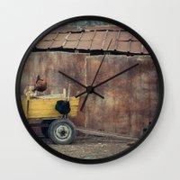 country Wall Clocks featuring Country  by Nevena Kozekova