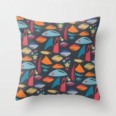 Abstract Atomics 2 Throw Pillow