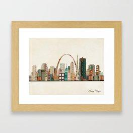 saint louis skyline Framed Art Print