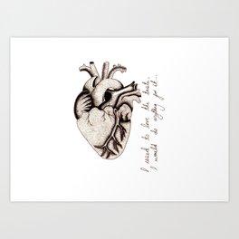 Pointilism Heart Art Print